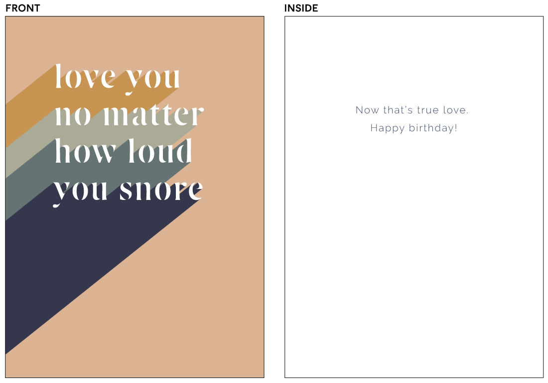 greeting cards - My Beloved Snorer by Anchored Paper Co.