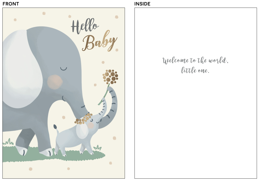 greeting cards - mom and me elephant by Christy Hy Lee