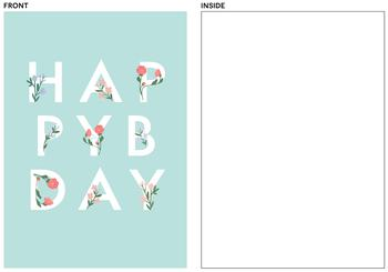 Floral Bday