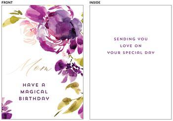 Blooming purple Mom birthday