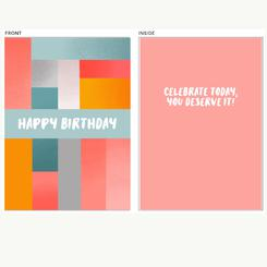 Bright Colorblock Birthday Card
