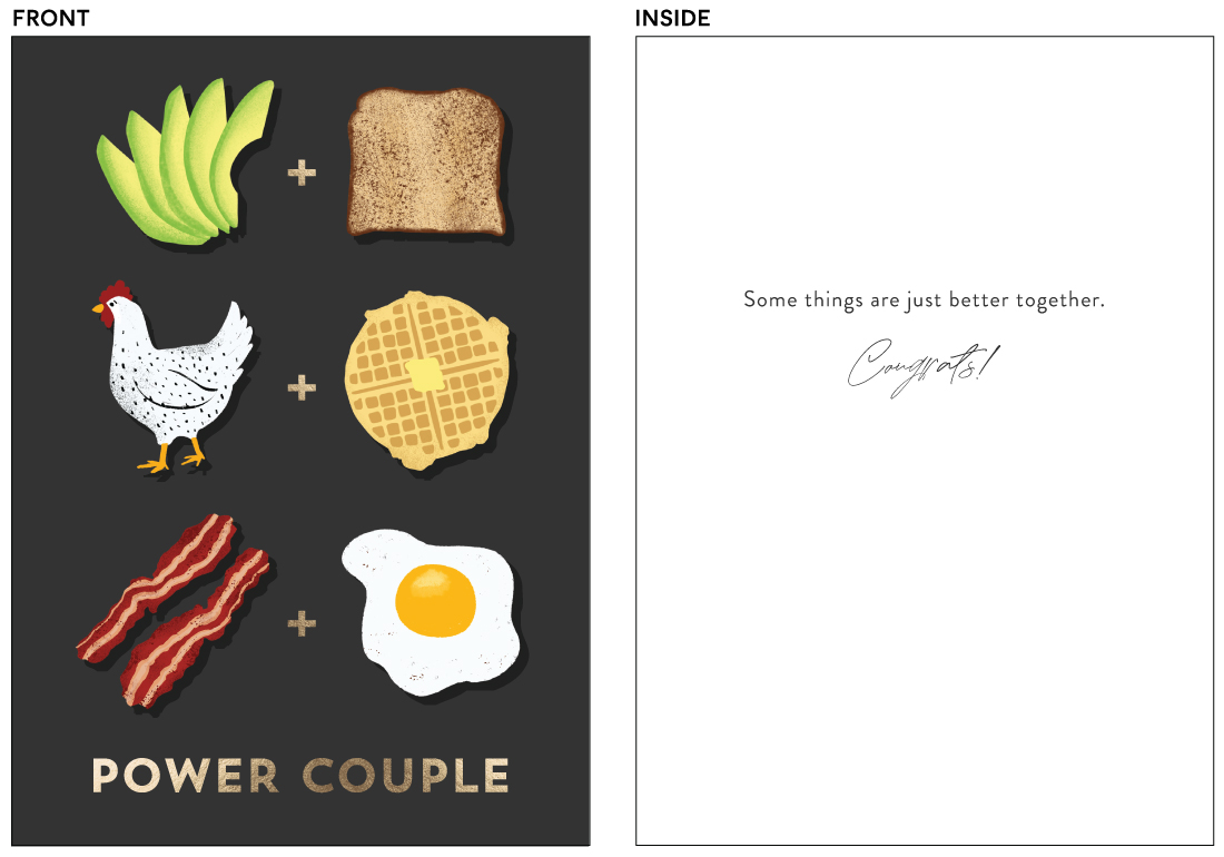 greeting cards - Power Couple by Pink House Press