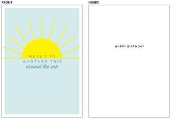 Around the Sun Birthday