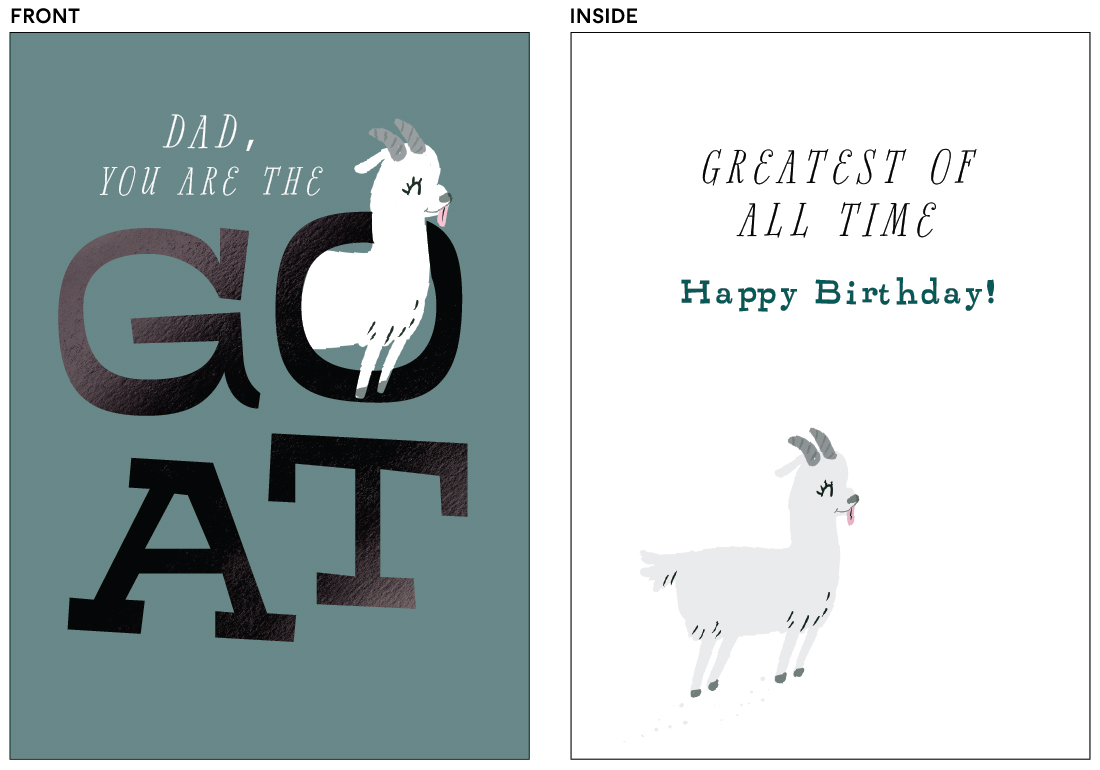 greeting cards - GOAT by Itsy Belle Studio