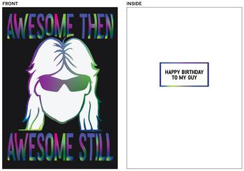 Awesome mullet guy birthday