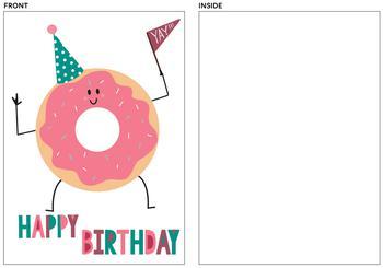Birthday Doughnut Fan