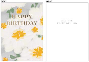 Painterly floral Birthday