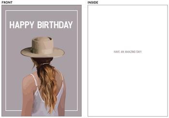 Pretty Woman Birthday Card