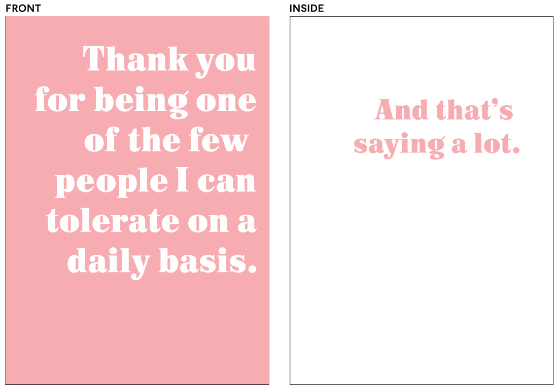 greeting cards - Daily Tolerance by Ashlan Berry