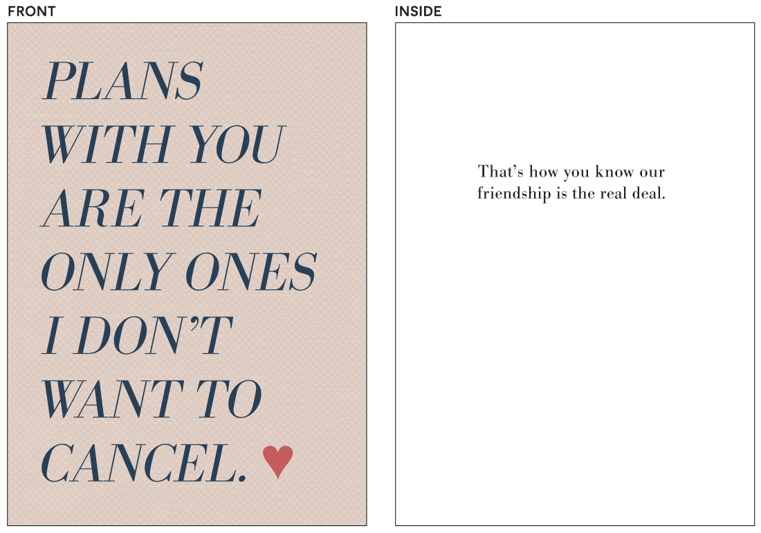greeting cards - Uncancelled Plans by Laura Condouris