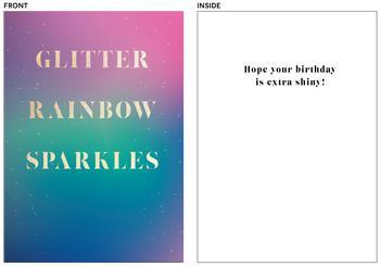 glitter rainbow sparkles