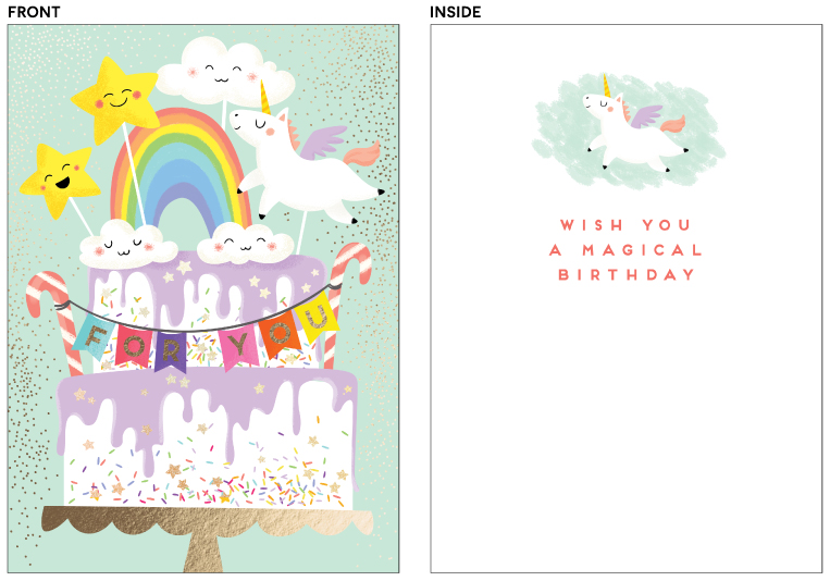 greeting cards - Magic cake by Helen Halik