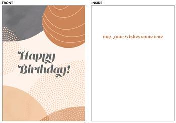 Modern Abstract Birthday