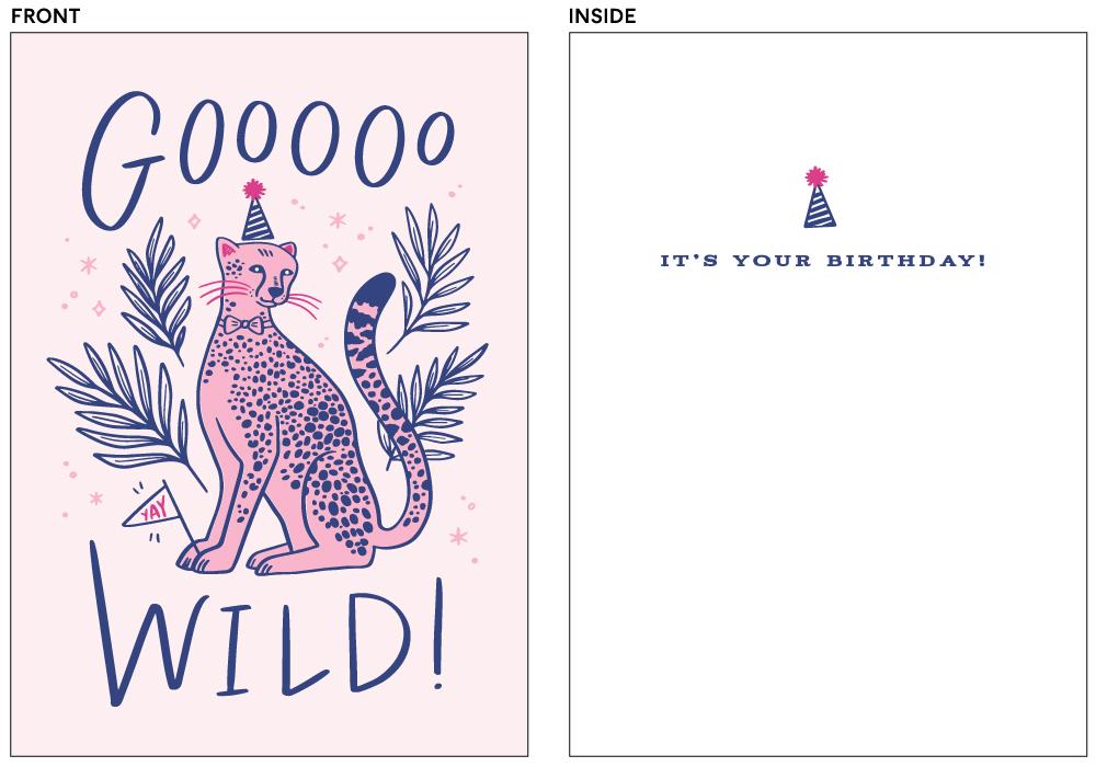 greeting cards - Goooo Wild by Kristen Smith