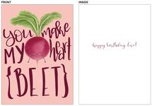 Heart Beet Birthday by Chelsea And Marbles Paper