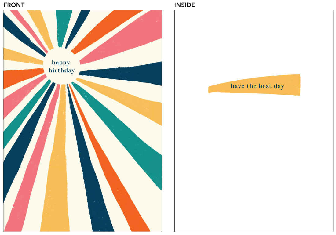 greeting cards - Vintage Sunburst by Written by Kristen