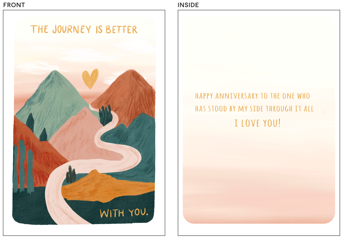 greeting cards - On This Journey by Angel Walker