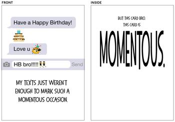 Momentous Text