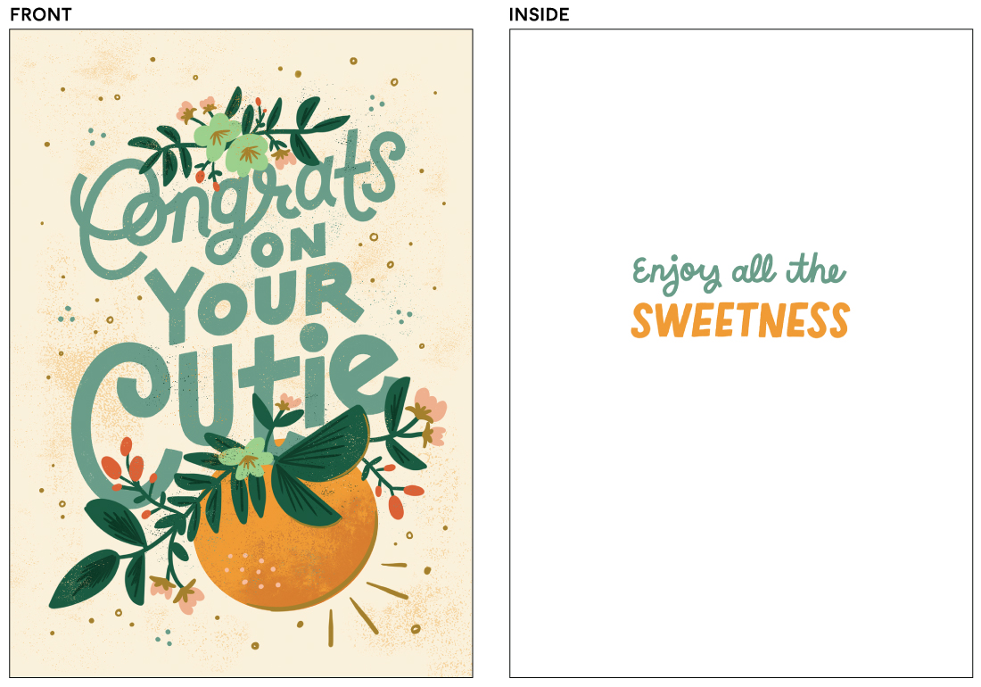 greeting cards - Congrats on Your Cutie by Jamie Bartlett