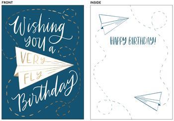 Fly birthday wishes