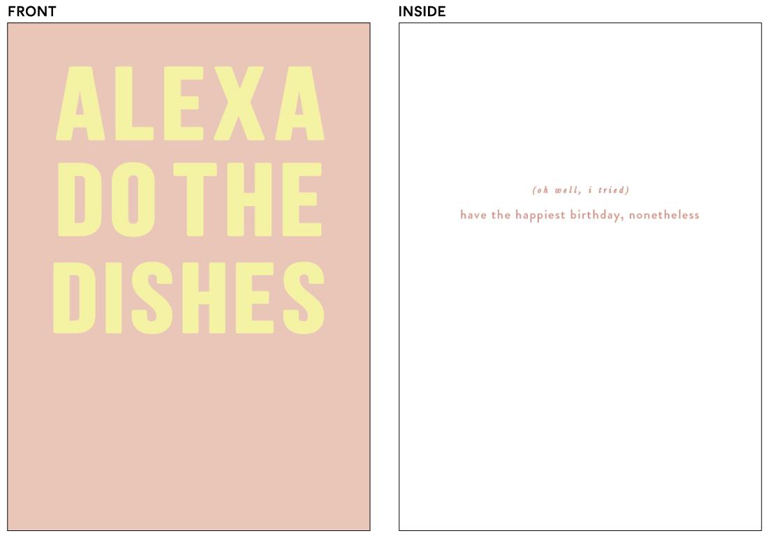 greeting cards - Alexa by Creo Study