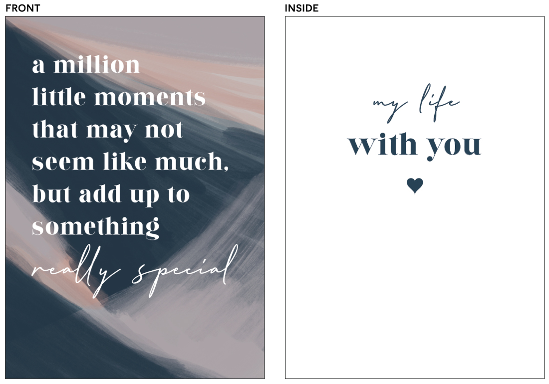 greeting cards - My life with you by Creo Study