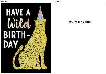 Wild Birthday Cheetah