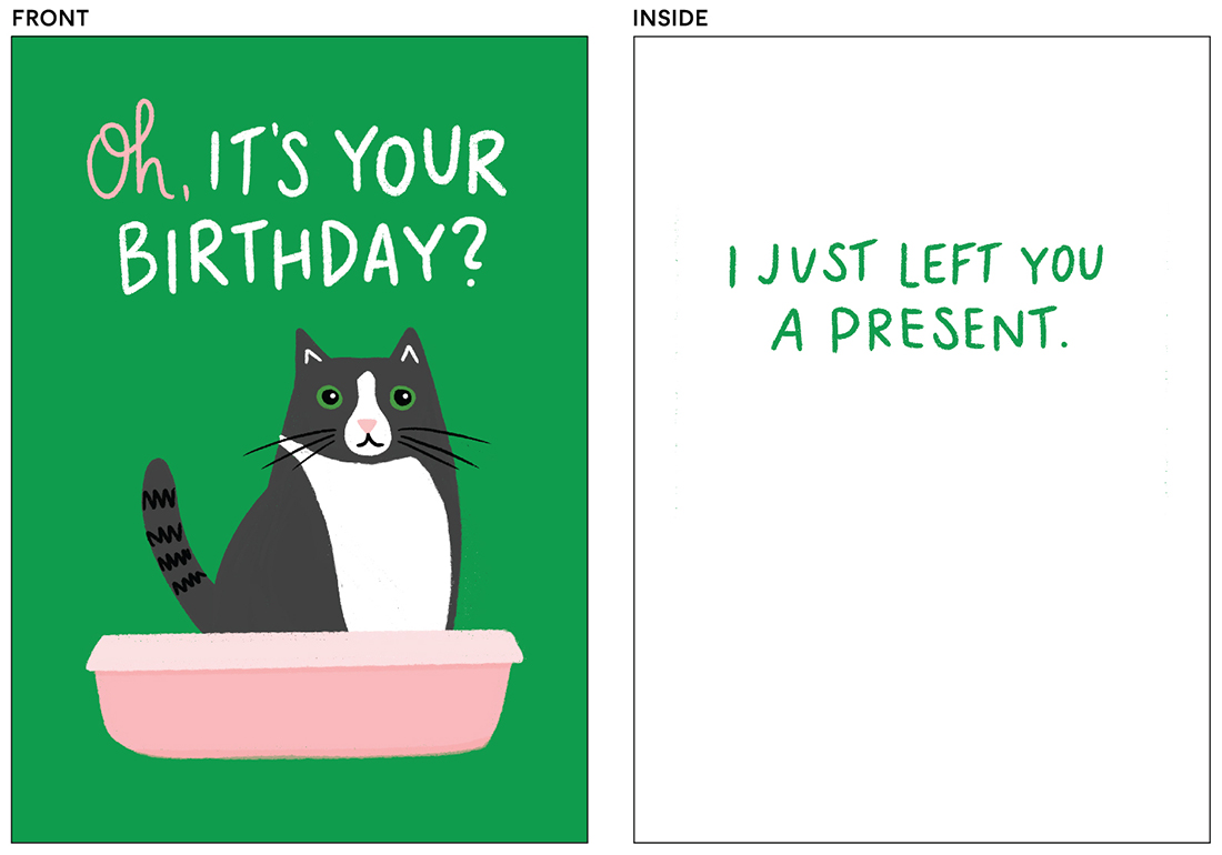 greeting cards - Cat Box by Genna Blackburn