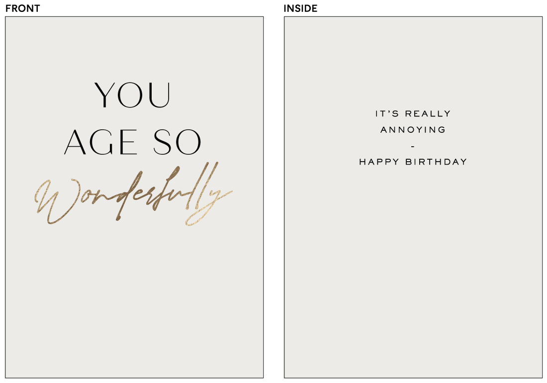 greeting cards - Age So Well by Amy Kross