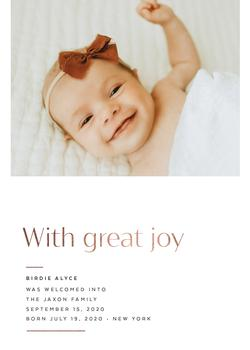 With Great Joy