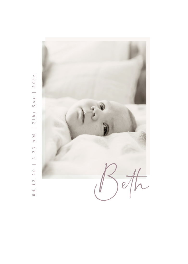 birth announcements - simple and soft by Sumak Studio