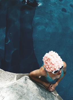 lady in a swim cap