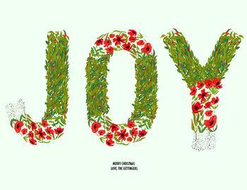 Joy Floral Letters