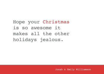 Jealous Holidays