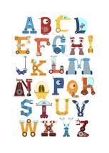 Robot Alphabet by Joseph Apel